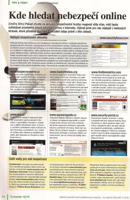 Security-Portal.cz v casopise Computer
